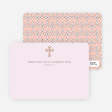 Stationery: 'Photo Card Holy Communion Invite' cards. - Pale Pink
