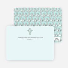 Stationery: 'Photo Card Holy Communion Invite' cards. - Pale Mint