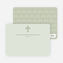Note Card Holy Communion Notecard - Light Sage