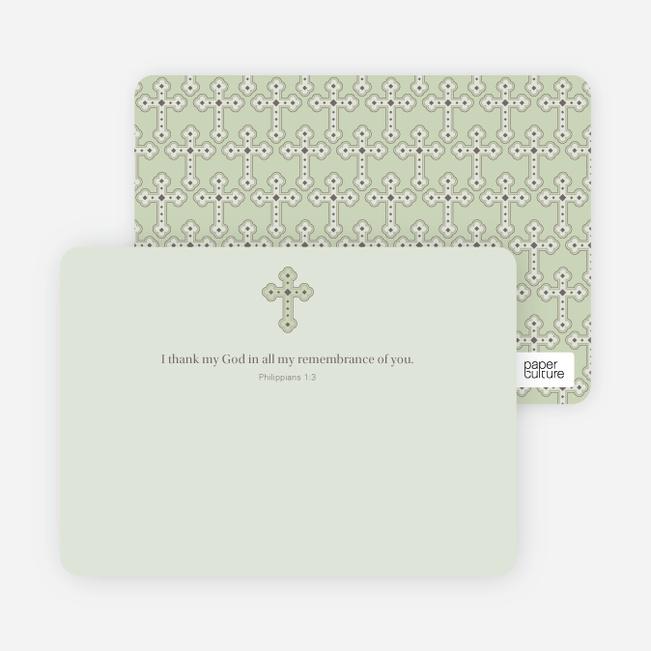 Stationery: 'Photo Card Holy Communion Invite' cards. - Light Sage