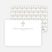 Note Card Holy Communion Notecard - White