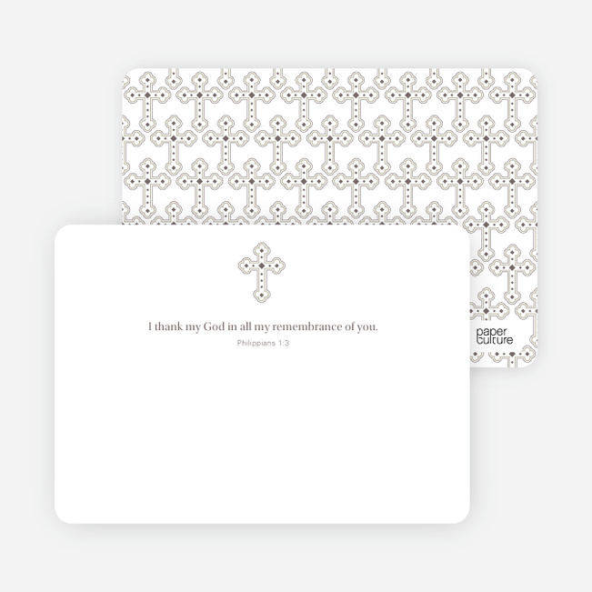 Stationery: 'Photo Card Holy Communion Invite' cards. - White