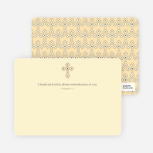 Note Card Holy Communion Notecard - Creamy Yellow