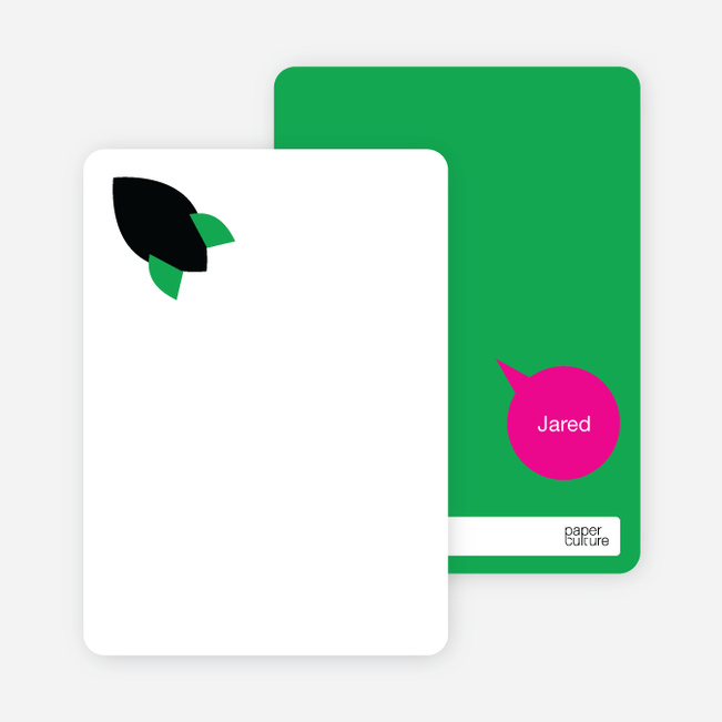 Stationery: 'Rocket Takeoff' cards. - Kelly Green