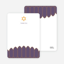 Synagogue Bar and Bat Mitzvah Notecards - Eggplant