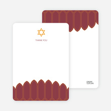 Stationery: 'Synagogue Bar and Bat Mitzvah Invitations' cards. - Burgundy