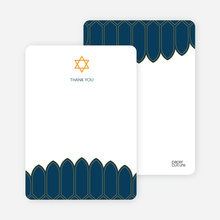 Synagogue Bar and Bat Mitzvah Notecards - Bluish Grey