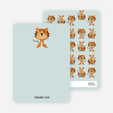 Year of the Tiger Shower Note Cards - Sea Foam