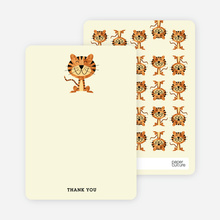 Year of the Tiger Shower Note Cards - Ecru