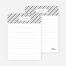 Diagonal Stripes: Thank You Cards - Magenta