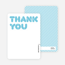 Thank You Card for It's Party Time Invitation - Cornflower Blue