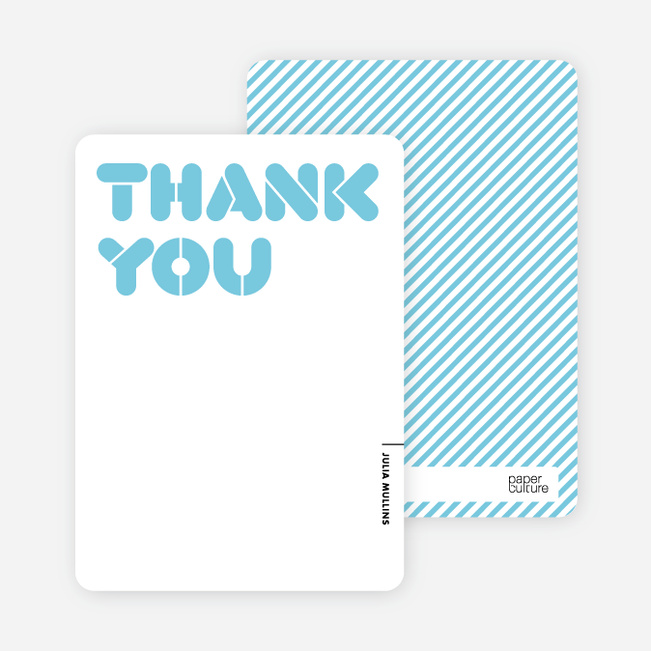 Thank You Card for Its Party Time Invitation – Thank You Party Invitation