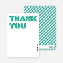 It's Party Time: Thank You Cards - Pistachio