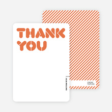 Thank You Card for It's Party Time Invitation - Persimmon