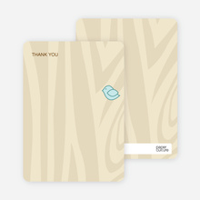 Nesting Bird: Thank You Cards - Powder Blue