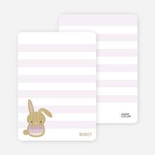 Woodblock Bunny - Lilac