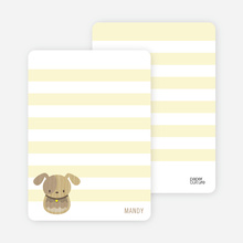 Woodblock Dog Personal Stationery - Canary