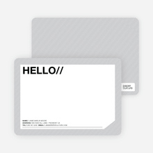 A Simple Hello: Modern Stationery - Cobblestone