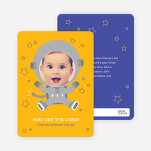 Astronaut Photo Invitations - Yellow