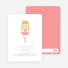 Ballerina Birthday Invitations - Cotton Candy