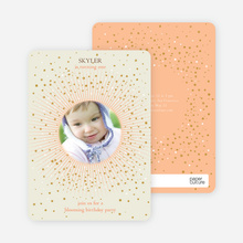 Blooming Star Kid's Birthday Invitations - Orange Peach