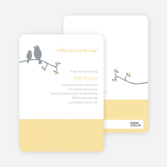 Classic bird baby shower invitation paper culture filmwisefo