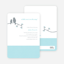 Classic Bird Baby Shower Invitation - Aqua