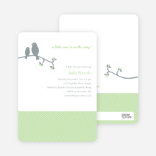 Classic Bird Baby Shower Invitation - Light Green