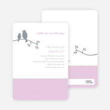 Classic Bird Baby Shower Invitation - Lilac