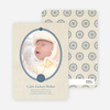 Classic Frames: Vintage Photo Birth Announcement - Blueberry