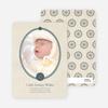 Classic Frames: Vintage Photo Birth Announcement - Midnight Green
