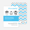 Costume Party Birthday Party Invitations - Light Blue