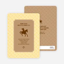 Cowboy Birthday Invitation - Saddle Brown