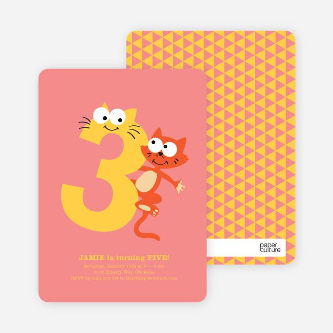 Dynamic Animal Duo Birthday Invitations - Grapefruit