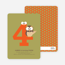 Dynamic Animal Duo Birthday Invitations - Artichoke