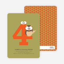 Dynamic Animal Duo Birthday Invitations - Artichoke