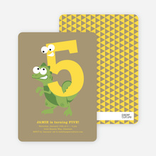 Dynamic Animal Duo Birthday Invitations - Brown Bag