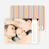 Dynamic Color Stripe Baby Announcements - Multi