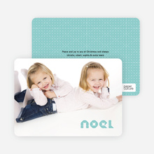 First Noel Holiday Photo Card - Dusty Blue