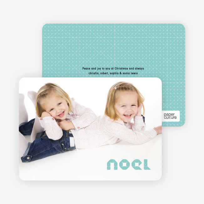 First Noel Christmas Photo Cards - Dusty Blue