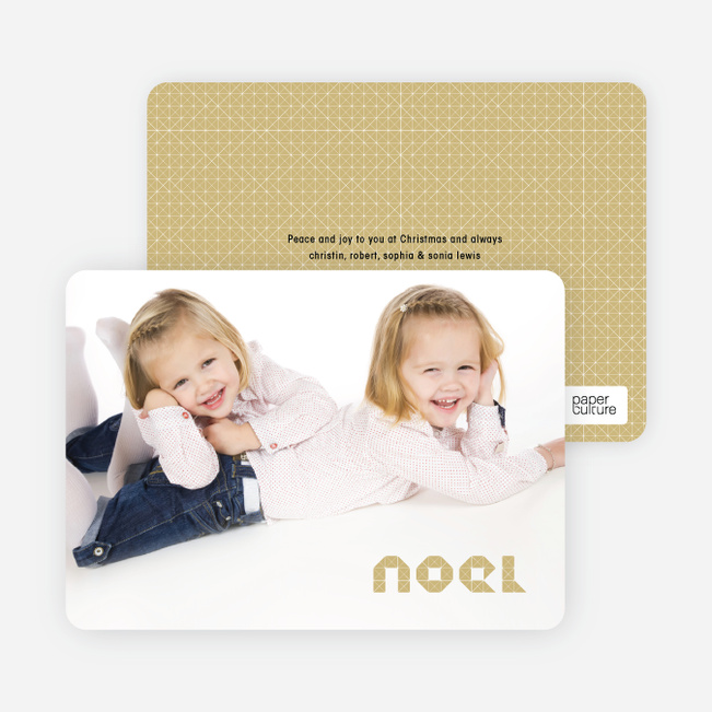 First Noel Christmas Photo Cards - Creamy Yellow