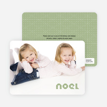 First Noel Holiday Photo Card - Mint Green