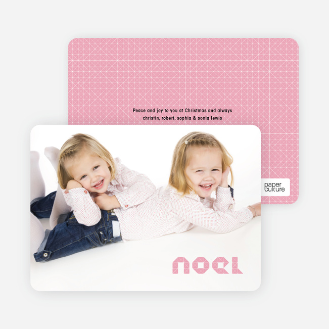 First Noel Christmas Photo Cards - Cotton Candy Pink