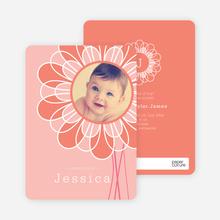 Flower Child Birth Announcements - Pink Sunflower