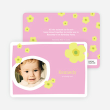 Flower Photo Cards - Bubble Gum Pink