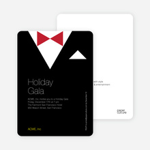 Formal Holiday Party Invitation: Black Tie - Black