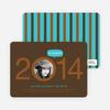 Graduation Cutout Invitations - Coffee Bean