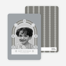 Jewish Arch Hanukkah Card - Taupe Grey