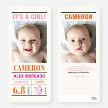 Headliner Birth Announcements - Pink