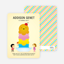 Ice Cream Sundae Birthday Party Invitations - Sorbet